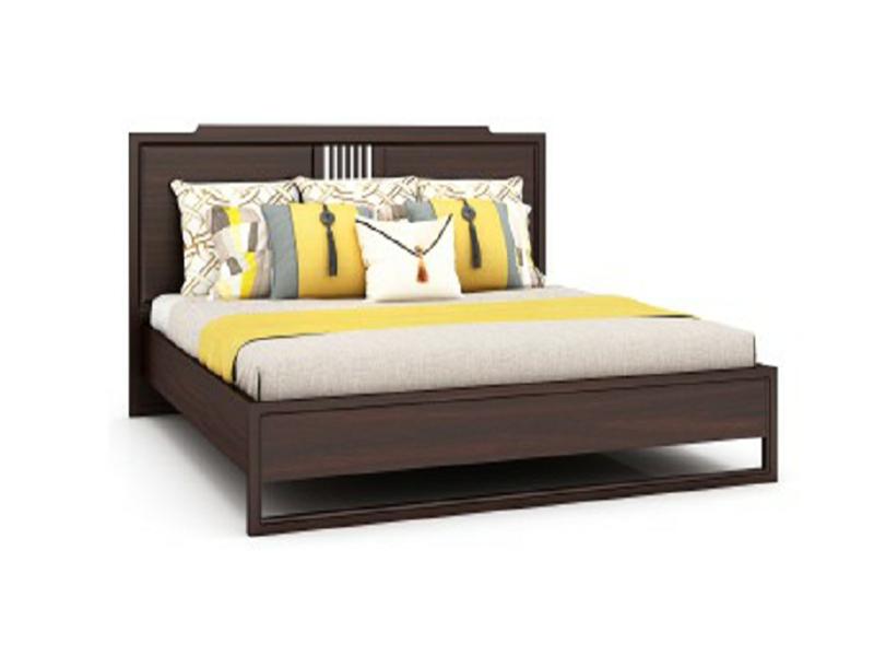 澜起家具新中式实木简约禅意卧室双人床CA-05L