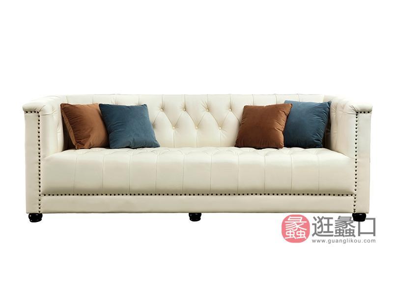 纽约 现代进口头层牛皮高密度回弹海绵实木沙发脚单人沙发双人沙发三人沙发1190241