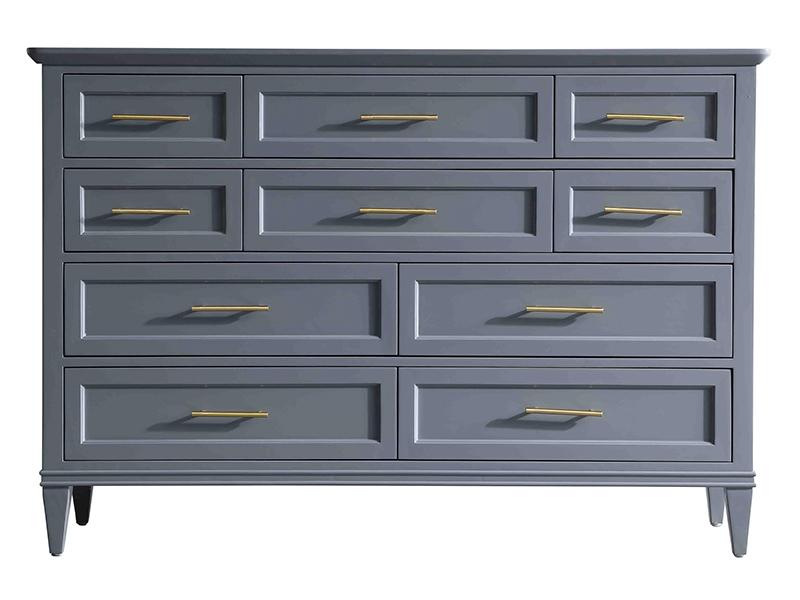纽约 现代轻奢白蜡木纯铜装饰实木斗柜1190162