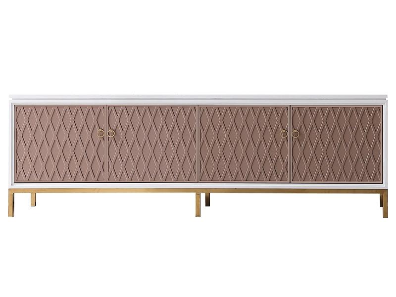 纽约 现代轻奢风格拼色不锈钢装饰电视柜1190194