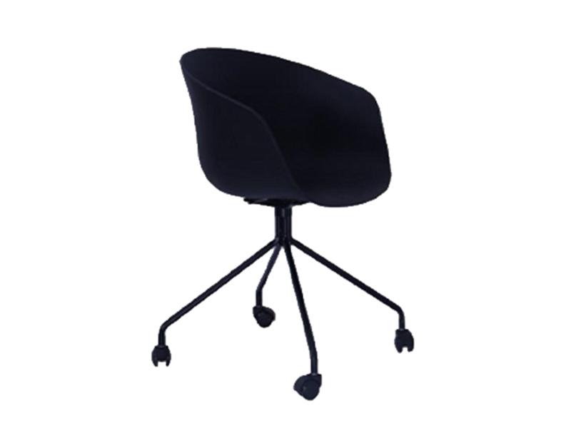 iHAY-北欧简约座板PP铁架喷涂带滑轮休闲椅1820023