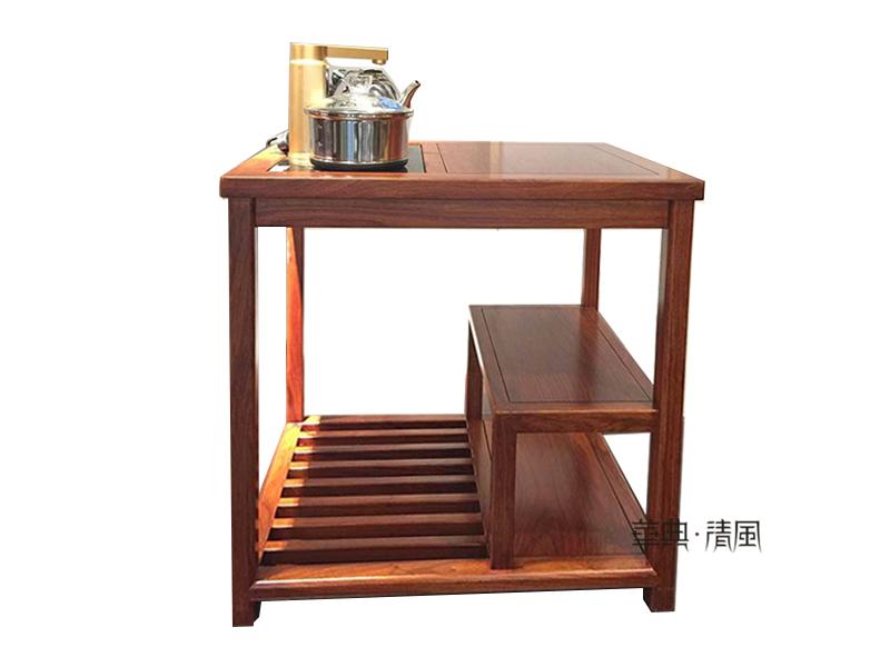 华典清风·欧尚格家居家具新中式餐厅刺猬紫檀红木001茶水台