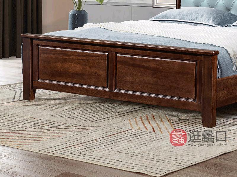 奥斯汀家具美式套房实木家具实木床真皮床2901#床