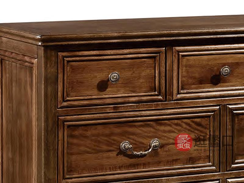 奥斯汀家具美式套房实木家具实木斗柜971#七斗柜