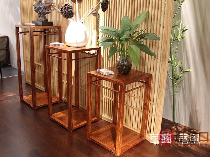 华典清风·欧尚格家居家具新中式客厅红木刺猬紫檀花架