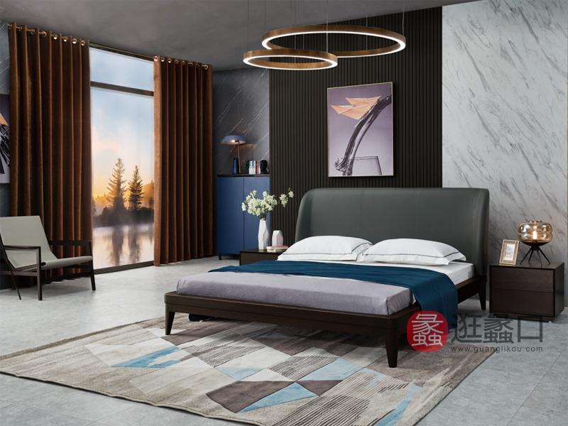 伊薇特家具意式现代极简卧室床