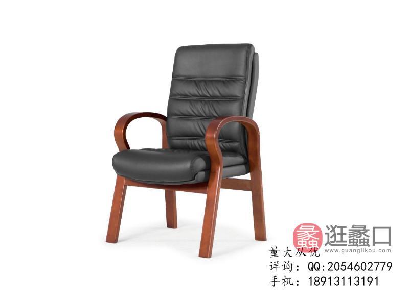 蠡口办公家具直销W625S仿皮休闲椅