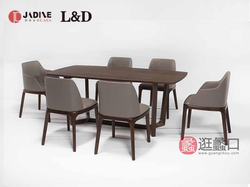 爵典家居·兰德保罗家具现代餐厅时尚圆桌和餐椅加餐边柜
