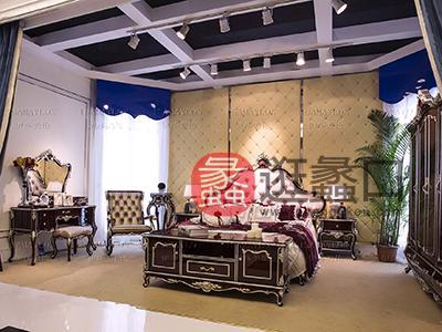 健辉家居·伊莎美伦家具欧式新古典家具欧式卧室榉木(实木)大床+梳妆台组合ML015