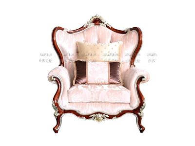 健辉家居·伊莎美伦家具欧式新古典家具欧式客厅榉木 单人沙发MYSF-J18-1