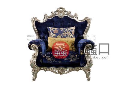健辉家居·伊莎美伦家具欧式新古典家具欧式客厅实木雕花布艺沙发BJSF-19-1
