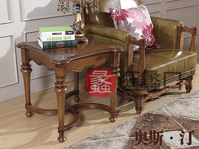 奥斯汀家具美式套房实木家具休闲椅+茶几