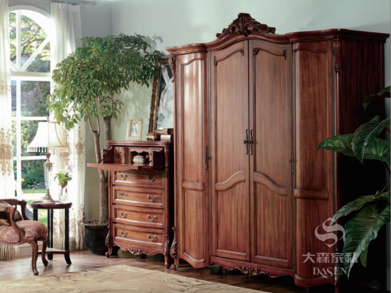 大森家私家具欧美卧室德国榉木实木衣柜/斗柜
