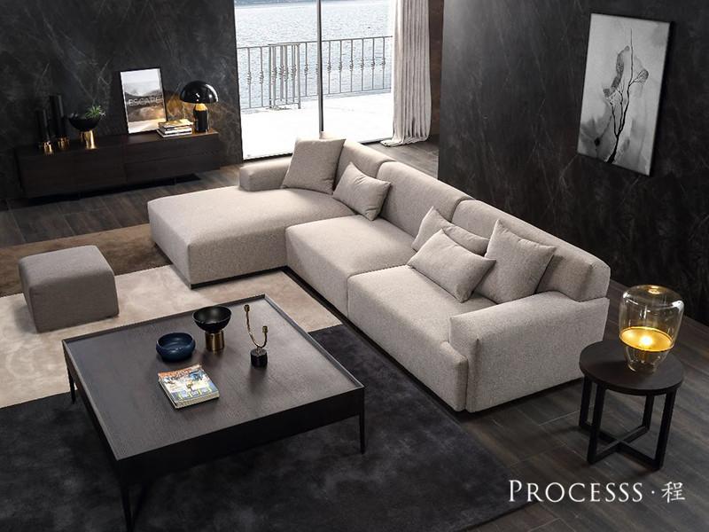 君诺家居· processs程家具现代意式极简客厅现代时尚舒适沙发+茶几组合