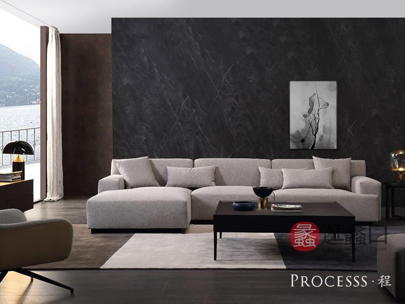 君诺家居· processs程家具现代意式极简客厅现代艺术沙发+茶几组合