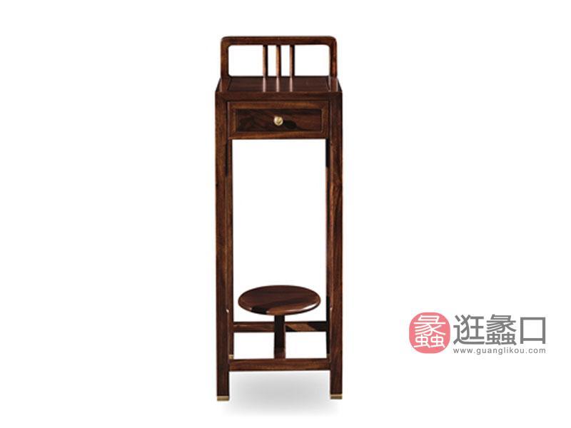 润达名家居·檀格家具新中式客厅实木花架