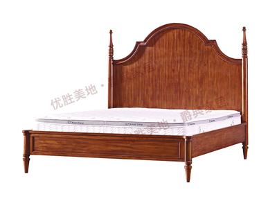 优胜美地家具·爵典家居美式卧室实木双人大床YS03-1A