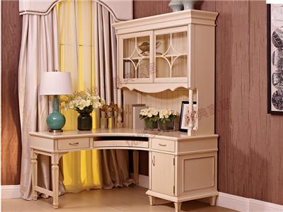 优胜美地家具·爵典家居美式书房桃花心木书桌椅/电脑桌YS09-17A