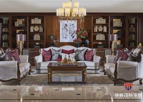 爵典家居·融峰国际家具美式客厅沙发三人沙发/双人沙发/茶几组合