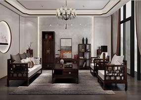 应氏家居-新中式系列新中式客厅沙发
