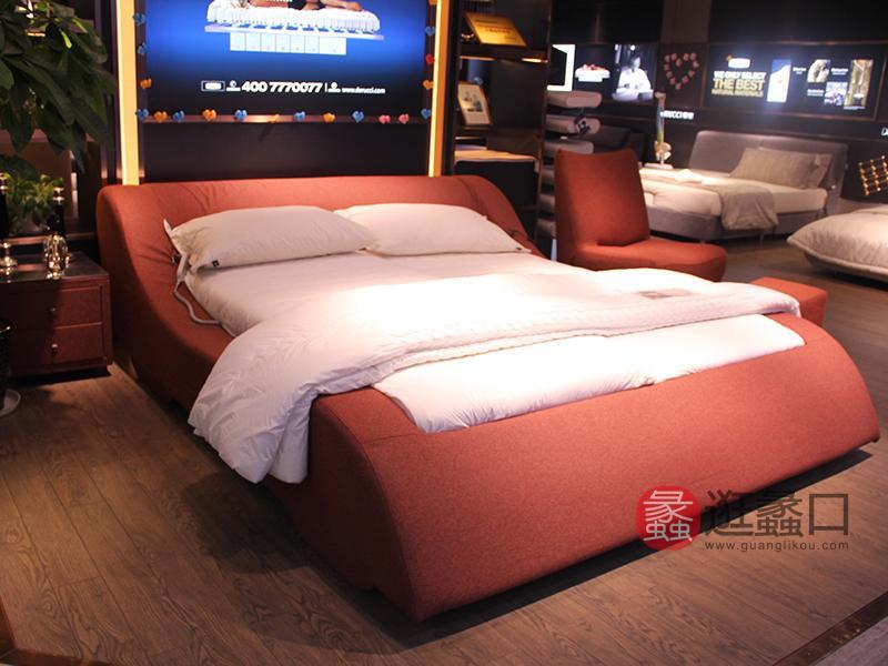 圣多娜轻奢家具简约现代卧室布艺双人大床