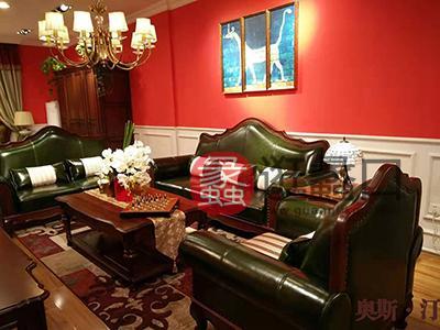 奥斯汀家具美式套房实木家具多人位双人位单人位沙发组合加茶几