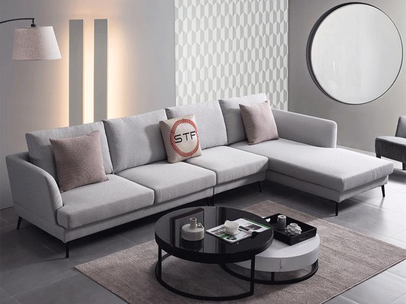 费丽斯家具意式现代极简客厅沙发6059#布艺沙发组合