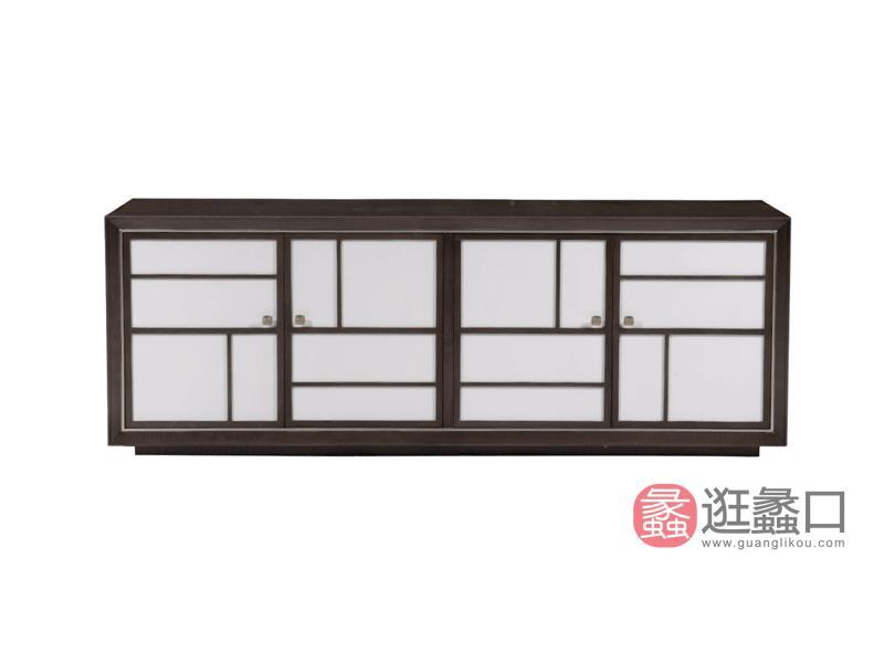 赫庭家具轻奢美式客厅电视机柜斯蒂芬系列B-DS-006实木时尚简约电视柜