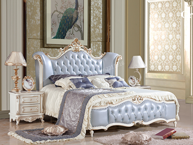 爱普菲斯家具欧式卧室实木双人大床B819#/B01#床头柜
