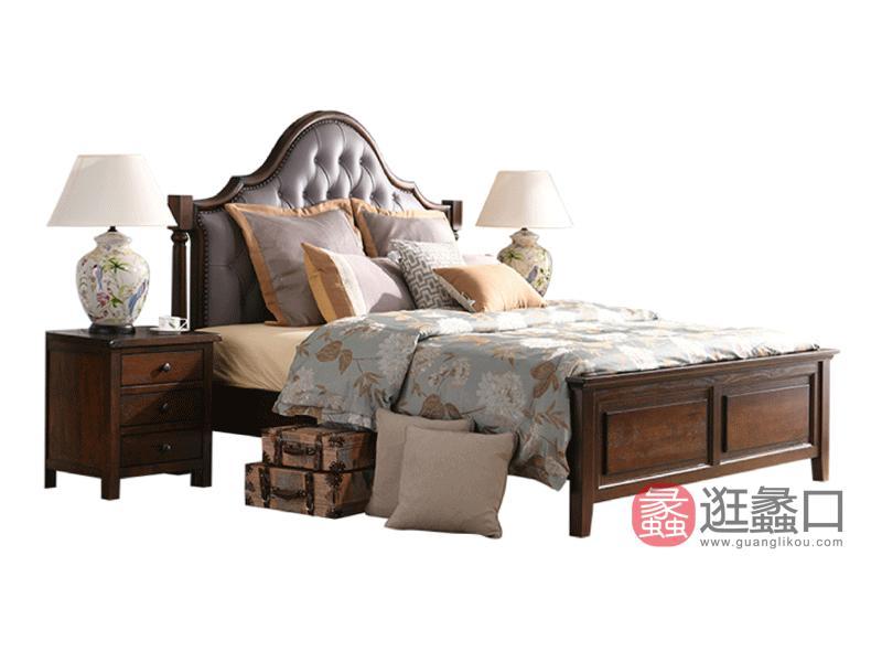 缇美家具美式卧室床WT-017床