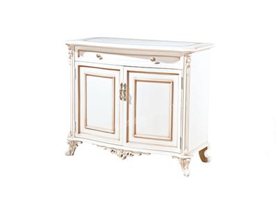 爱普菲斯家具 欧式实木客厅古白色鞋柜欧式客厅鞋柜