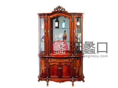 奢艺绘家具·爵典家居欧式餐厅实木雕花酒柜SY201