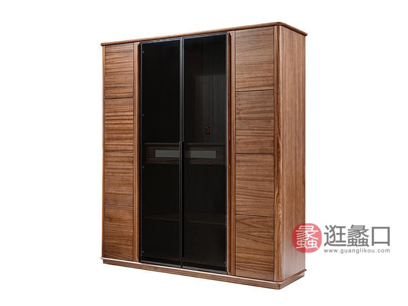 璞苑家具新中式卧室衣柜实木衣柜A8102四门衣柜
