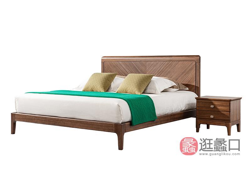 璞苑家具新中式卧室床实木床黄檀木床A8209床