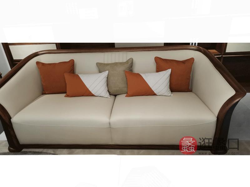 璞苑家具新中式客厅沙发实木沙发B8101-2双人位沙发