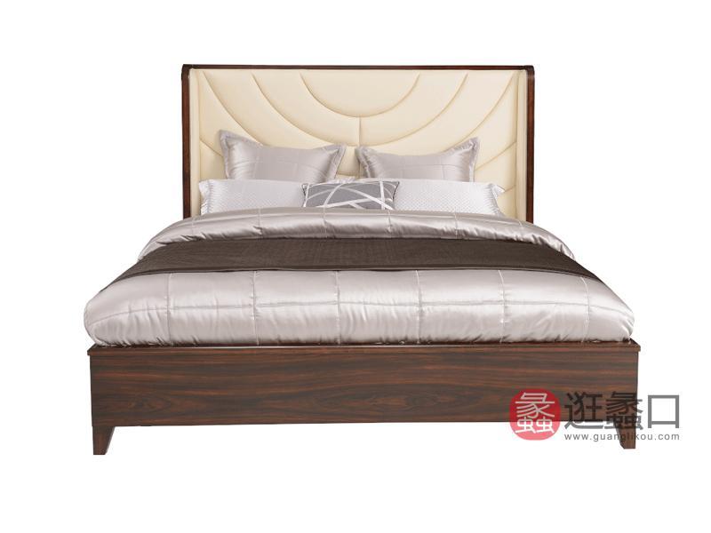 赫庭家具轻奢卧室床Y-C-003伯爵系列实木床