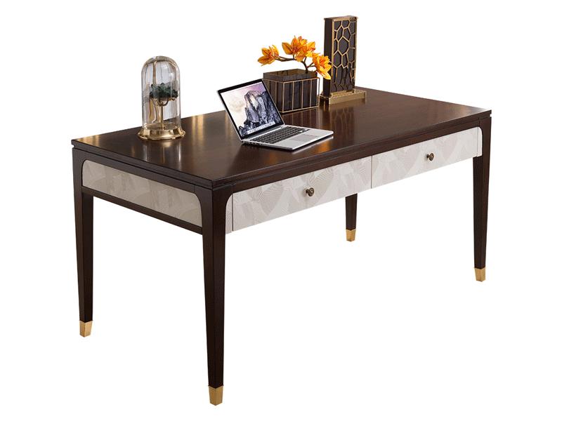 凯迪斯顿家具轻奢书房书桌椅轻奢美式801书桌现代简约美式实木书台写字台办公桌电脑桌T801-5