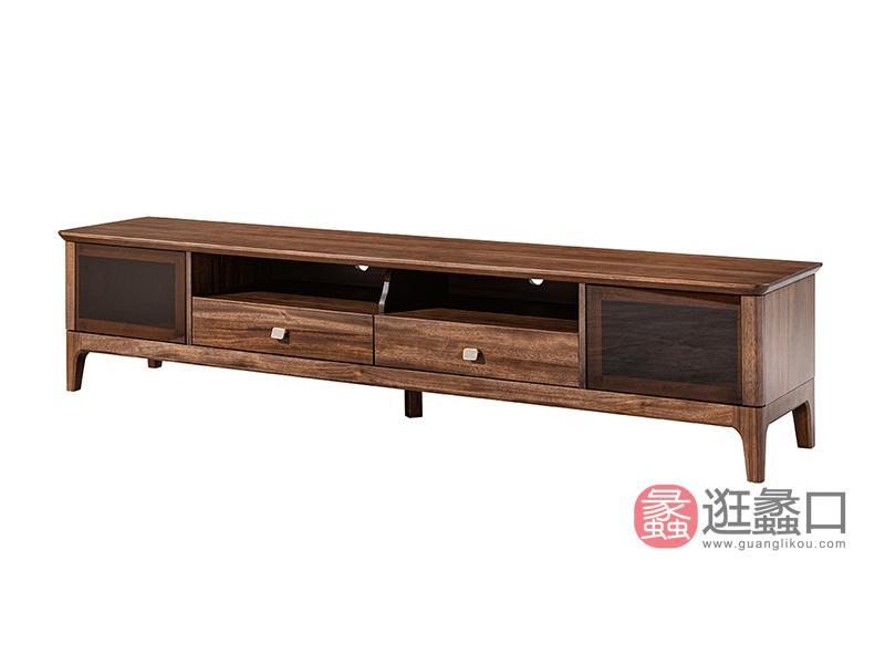 璞苑家具新中式客厅电视柜2.2米电视柜实木B8206电视柜