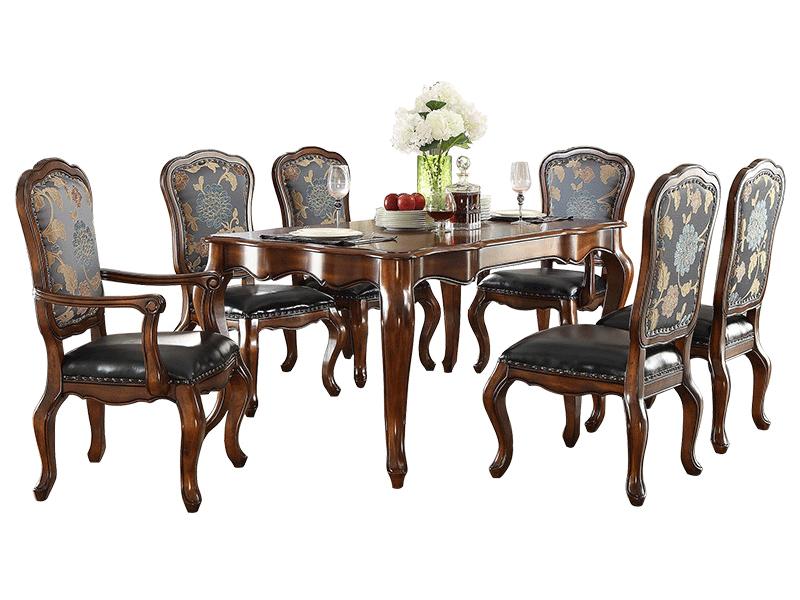 凯迪斯顿家具美式餐厅餐桌椅经典简美602餐桌现代美式实木餐桌乡村小户型简约欧式餐台G602-11