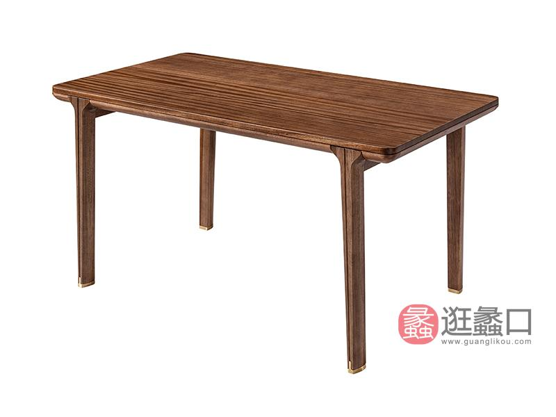 璞苑家具新中式餐厅餐桌椅1.5米实木长餐桌D8105长餐桌