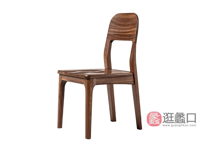璞苑家具新中式餐厅餐桌椅实木餐椅D8207餐椅