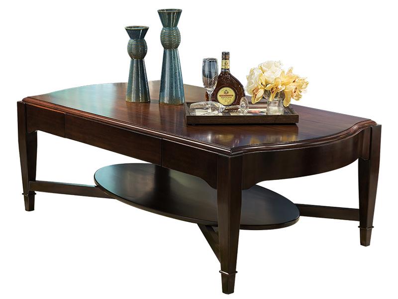 凯迪斯顿家具美式客厅茶边几轻奢美式乡村实木茶几客厅复古客厅咖啡桌新古典欧式茶台N801-1