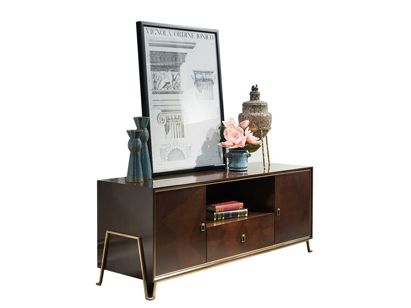 凯迪斯顿家具美式客厅电视机柜美式电视柜客厅复古现代新古典电视柜卧室地柜M801-5