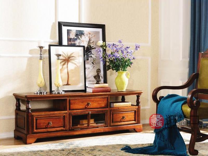 健辉家居·美伦卡家具美式客厅装饰柜储物柜实木地柜K8825