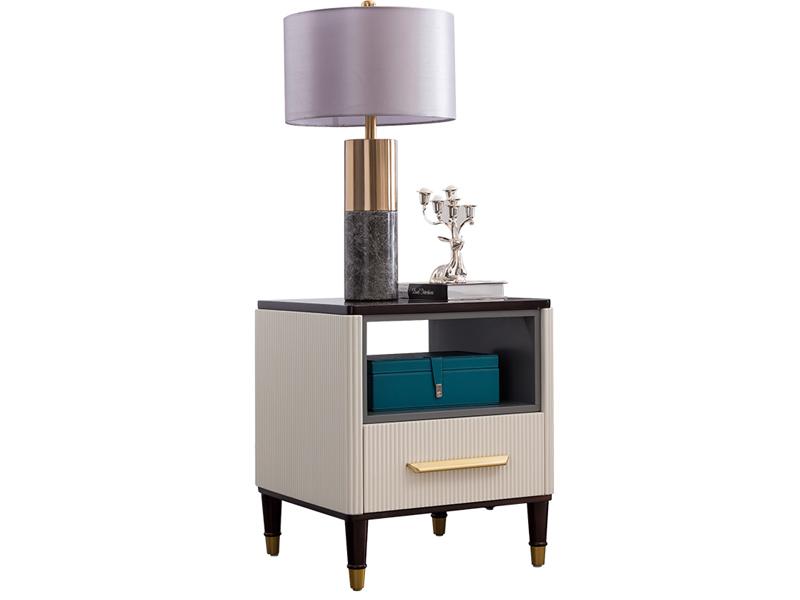 凯迪斯顿家具美式客厅茶边几美式轻奢角几现代简美实木沙发角几简约方几电话几N801-68