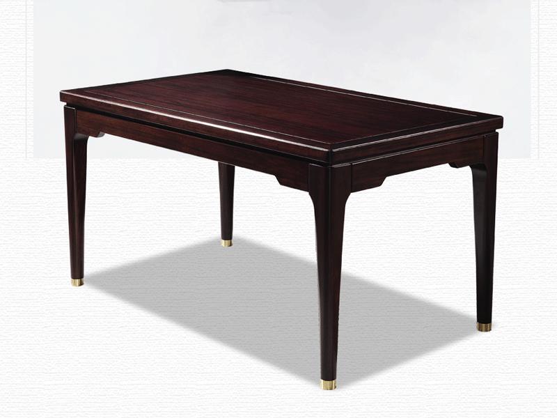 雅沐家具新中式餐厅餐桌椅实木餐桌椅组合套装 新中式餐桌1.5米餐桌