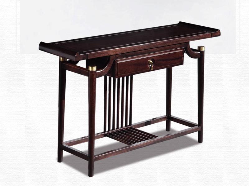雅沐家具新中式客厅玄关柜新中式实木条案玄关桌【檀木】玄关TX601XG
