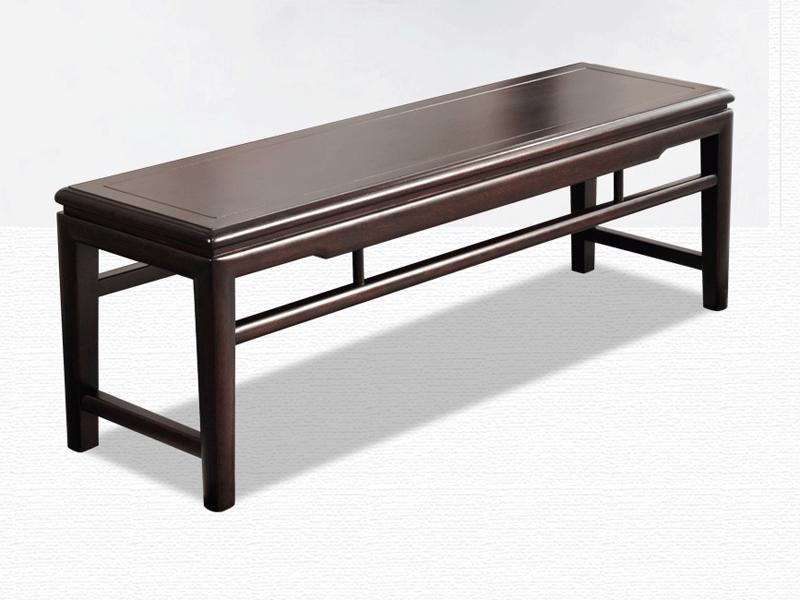 雅沐家具新中式卧室床尾凳TX601DZ实木凳子 长凳子 休闲椅 卧室床尾凳
