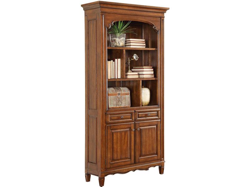 凯迪斯顿家具美式书房书柜美式实木书柜展示柜欧式复古书橱书架储物柜书房家具V602-6