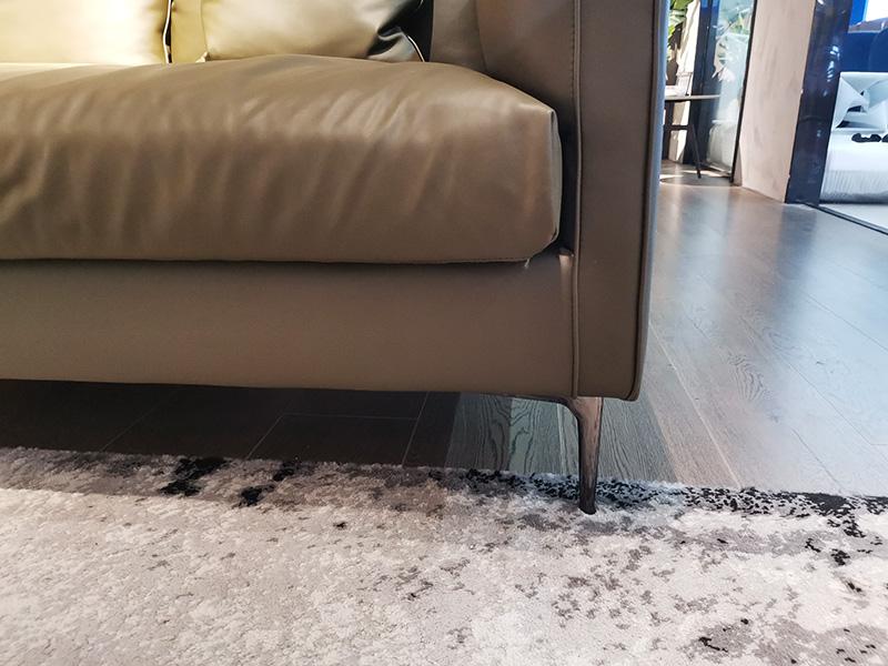 费丽斯家具意式现代极简客厅沙发三人位真皮沙发A03#
